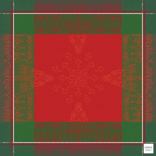 Tischdecke Noel Baroque Rouge 115x115 cm